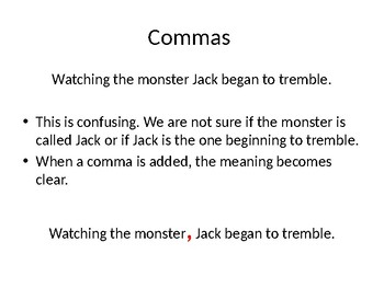 Commas and clauses
