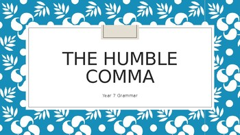 Commas and how to use them.