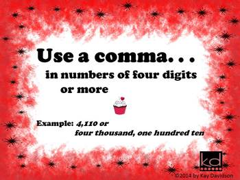 FREE Valentine's Day Posters Grade 2: Commas are NOT Sprinkles!