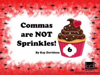 FREE Valentine's Day Posters Grade 6: Commas are NOT Sprinkles!
