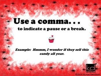 FREE Valentine's Day Posters Grade 8: Commas are NOT Sprinkles!