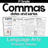 Commas (dates and series of words)