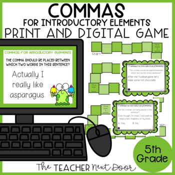 Commas for Introductory Elements Game | Commas for Introductory Elements Center
