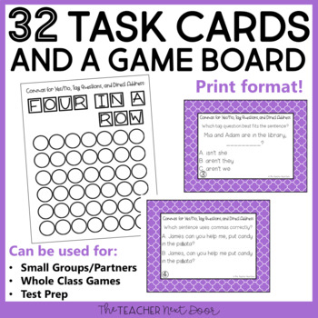 Commas for Tag Questions, Yes/No Statements, and Direct Address Center Game