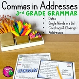 Commas in Addresses & Friendly Letter Unit: Video, Activities+ Distance Learning