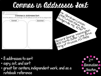 Commas in Addresses Sort