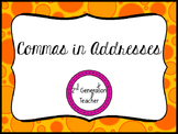 Commas in Addresses Task Cards