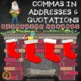 Commas in Addresses & Quotations Holiday Bundle