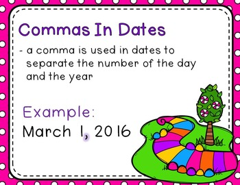 Commas in Candy Land - Read the Room, Center, and Mimio Combo