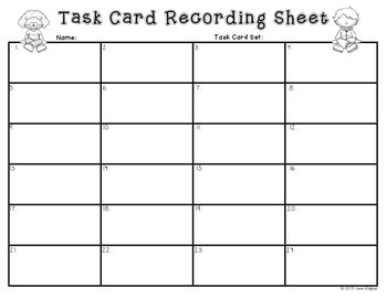 Commas in Dates - Activity: Common Core Task Cards First Grade