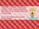 Commas in Dates, Places, and Letters Task Cards for Journeys Grade 2