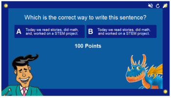 Commas in Dates, Places, and Series Smart Lab Interactive Whiteboard Activities