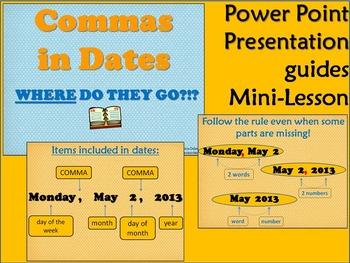 Commas in Dates