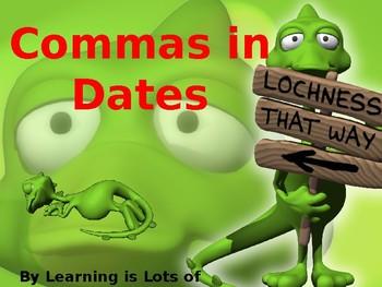 Commas in Dates Powerpoint