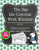 Commas in Dates and Addresses Story Booklet, Assessment, a