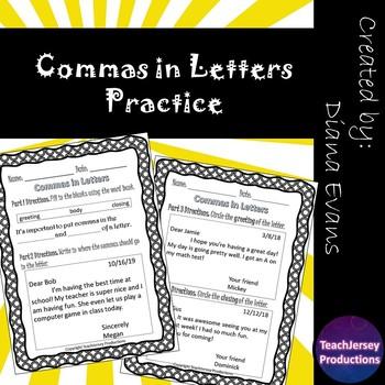 Commas in Letters