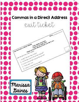 Commas in a Direct Address