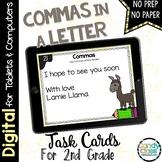 Commas Task Cards - Digital for Google Classroom Use (Comm