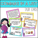 Commas in a List Task Cards