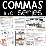 Commas in a Series Activities and Interactive Notebook Pages