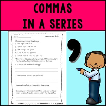 Commas in a Series Assessment