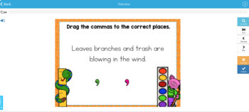 Commas in a Series Digital Boom Task Cards
