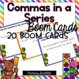 Commas in a Series Digital Boom Task Cards
