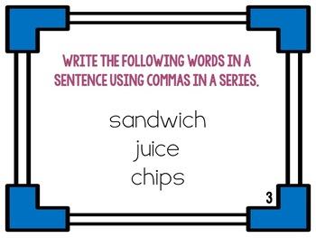 Commas in a Series ~ Five Activities