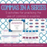 Commas in a Series  {Five Activities}