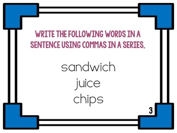 Commas in a Series  {Five Activities}