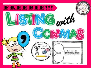 Commas in a Series Freebie