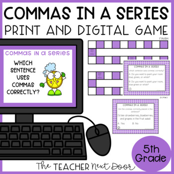 Commas in a Series Game | Commas in a Series Center