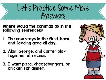 Commas in a Series Instructional PowerPoint