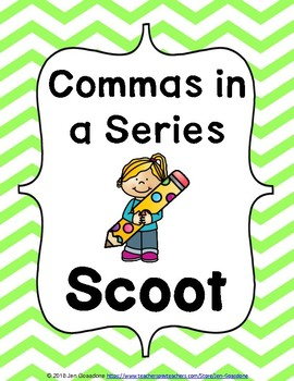 Commas in a Series Grammar SCOOT or Task Cards