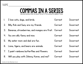 Commas in a Series Scoot