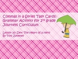 Commas in a Series Task Cards for Journeys Grade 2
