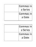 Commas in a Series or a Date Flapbook