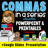 Commas in a Series PowerPoint and Worksheets