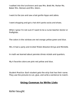 Commas in a series pack