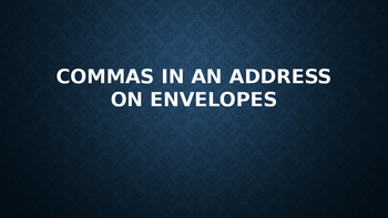 Commas in an address and dates