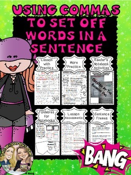 Commas to Set Off Words in a Sentence L5.2C
