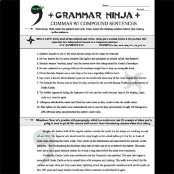 Commas w/ Compound Sentences - Grammar Ninja
