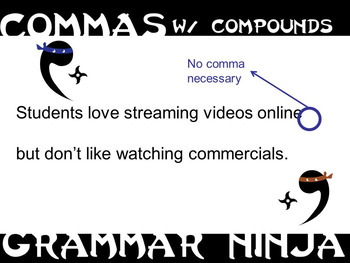 Commas w Compounds PowerPoint Grammar Ninja Rules