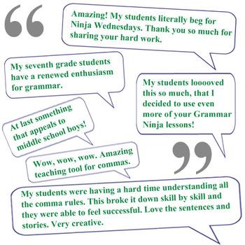 Commas w Dates PowerPoint Grammar Ninja Rules