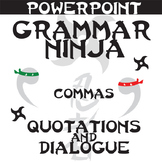 Commas w Dialogue PowerPoint Grammar Ninja Rules