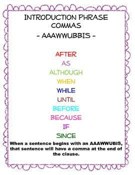 AAAWWUBIS and Comma Poster