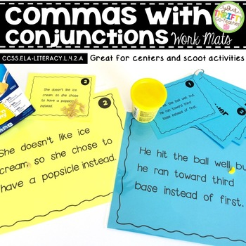 Comma Rules with Conjunctions Work Mats for Centers & Scoot Activities