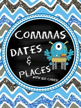 Commas with Dates and Places: With QR Codes