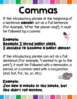 Commas with Introductory Words L.5.2.B