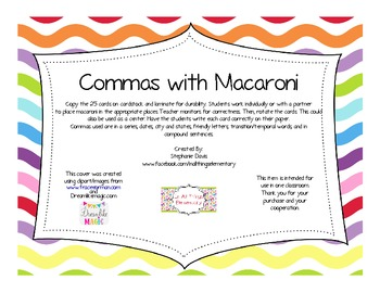 Commas with Macaroni